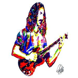Frank Zappa Mothers of Invention Guitar Art Print